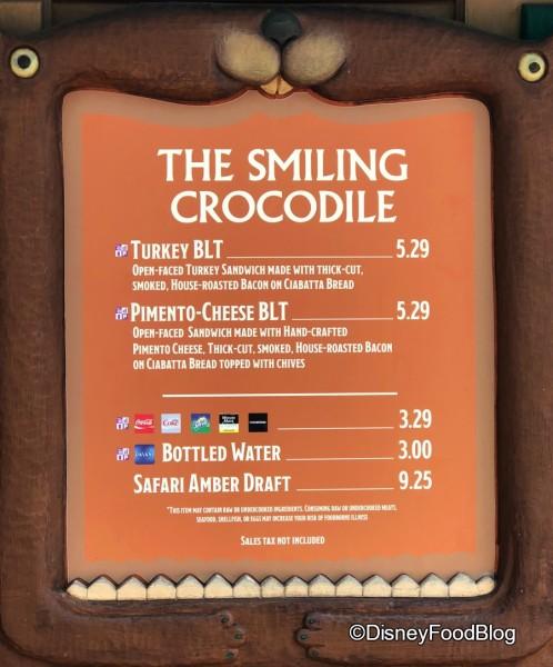 No more Salmon BLT at The Smiling Crocodile