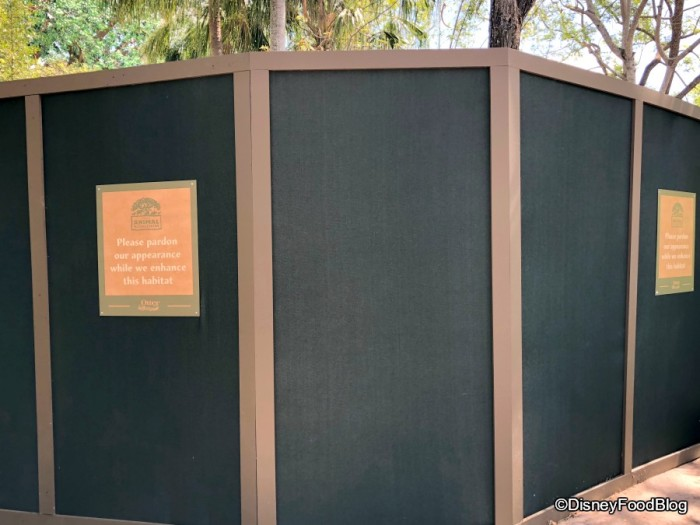 Walls up in the Tree of Life Garden and some animal viewing areas