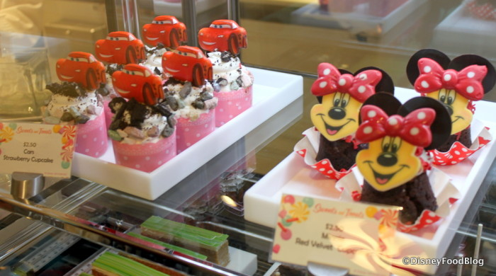 Cars Strawberry Cupcake and Minnie Mouse Red Velvet Cupcake
