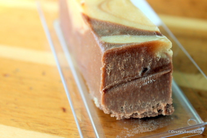 Inside the fudge!