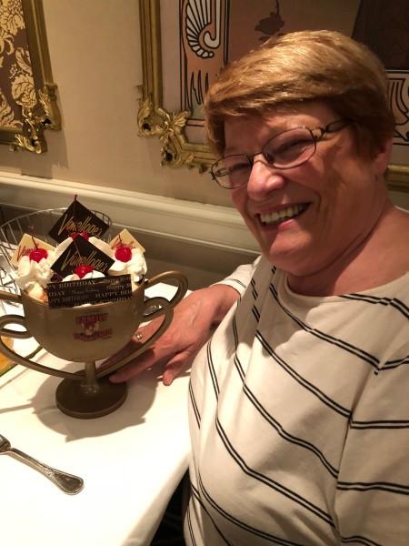 Happy birthday, Mom! Eat this massive sundae!