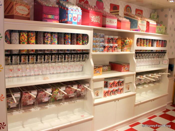 Wall o' candy at Vanellope's!