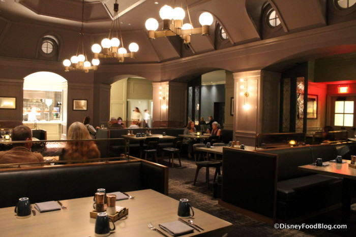 Central Dining Room in the evening