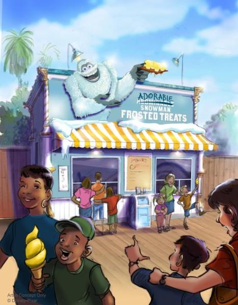 Adorable Snowman on Pixar Pier will serve what's basically Lemon Dole Whip