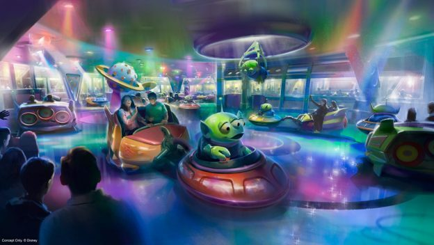 Alien Swirling Saucers Concept Art ©Disney