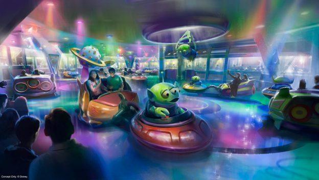 Alien Swirling Saucers Concept Art ©Disney