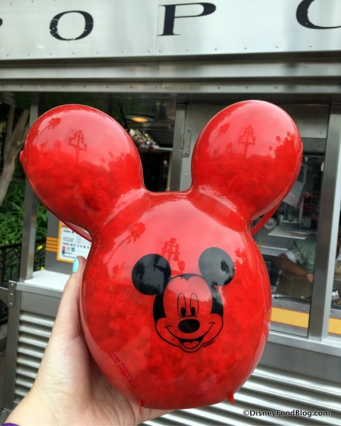 Mickey Balloon Popcorn Bucket in Disneyland