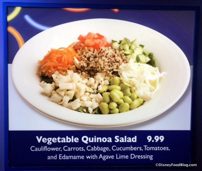 Vegetable Quinoa Salad on the menu