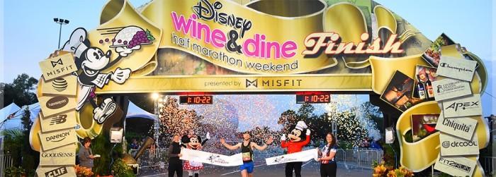 Epcot Wine and Dine Half Marathon finish line ©Disney