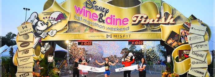 Epcot Wine and Dine Half Marathon finish line ©Disney