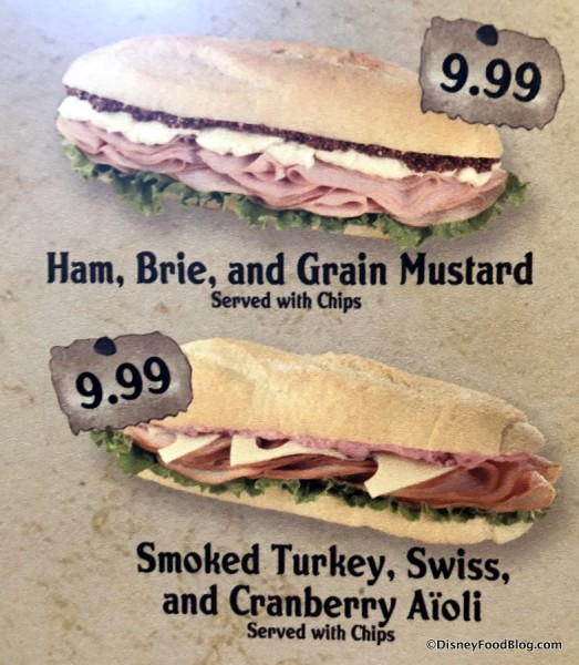 Sandwiches on the Menu