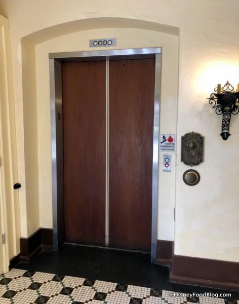 Hollywood Studios Doorbell Next to Elevator