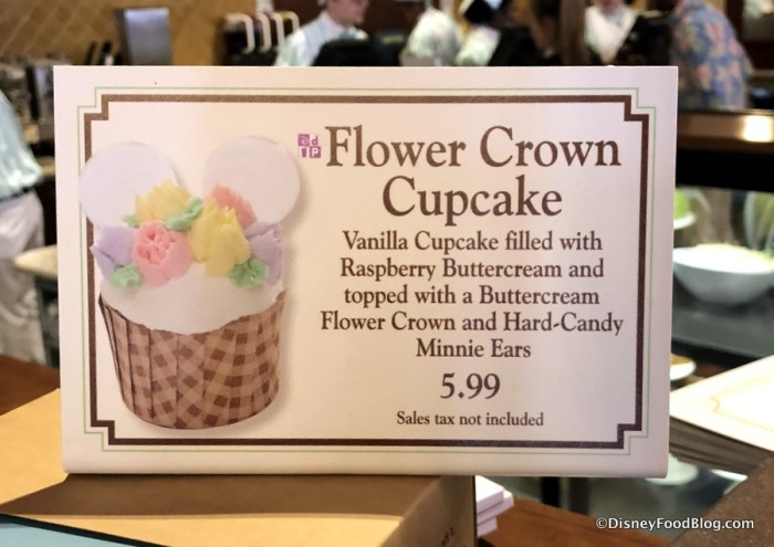 Flower Crown Cupcake sign