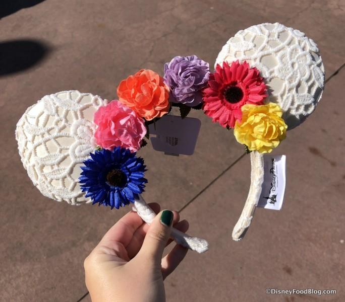 Flower Crown Minnie Ears