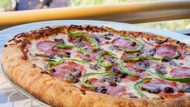 Pepperoni, Green Pepper, and Mushroom Pizza ©Disney