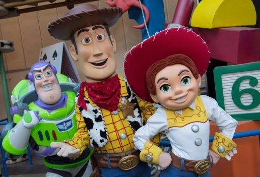 Toy Story Characters Buzz, Woody, and Jessie ©Disney