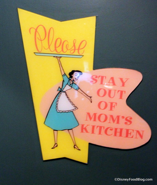 Stay out of Mom's kitchen!