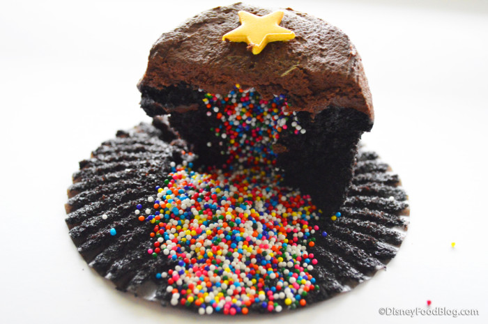 Sprinkles-filled cupcake!