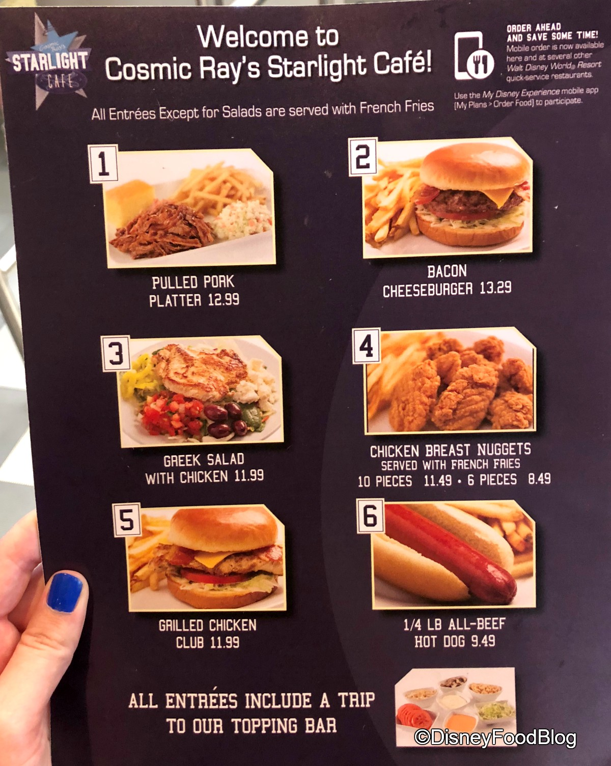 Cosmic Ray S Cafe Menu
