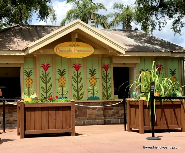 Epcot Outdoor Kitchen Pineapple Promenade