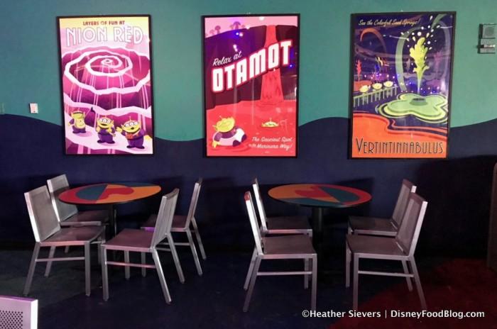 Posters Inside Alien Pizza Planet