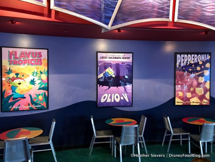 Posters Inside Alien Pizza Planet