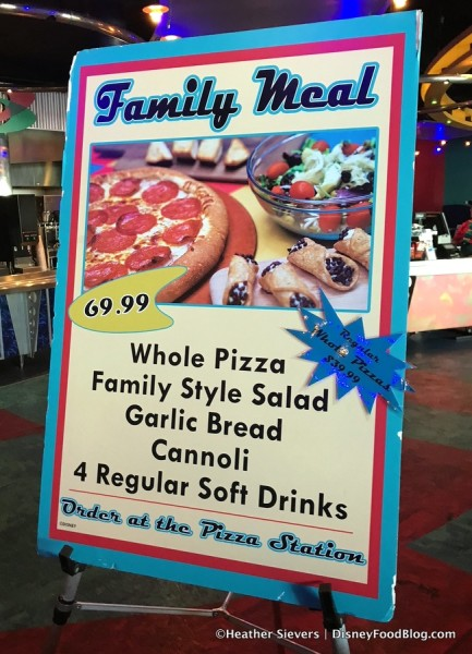 Family Meal sign
