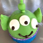 Pixar Fest Eats: Toy Story Alien and Buttercup Caramel Apples at Disneyland's Candy Palace