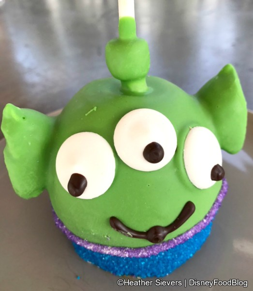 Little Green Alien Caramel Apple