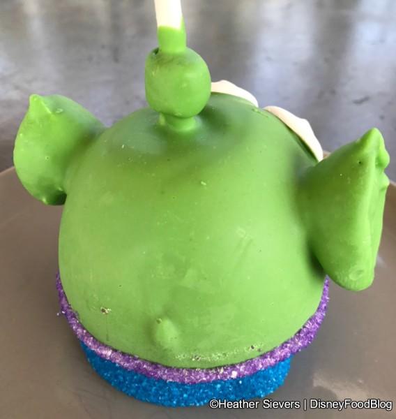 Back of Alien Caramel Apple