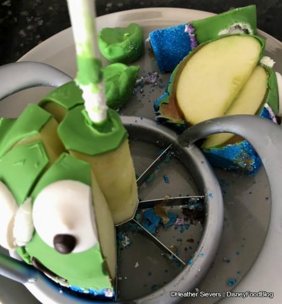 Alien Caramel Apple Sliced