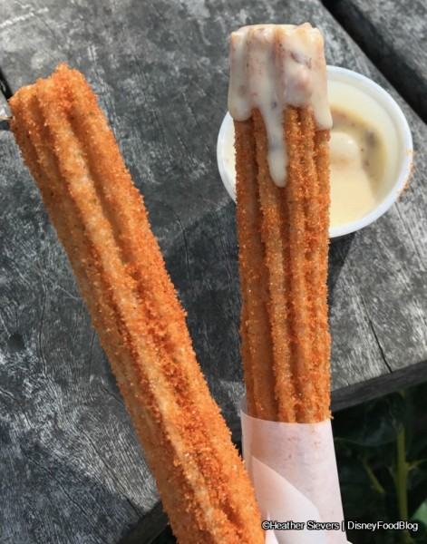 Carrot Cake Churros with Raisin-Carrot Cream Cheese Frosting