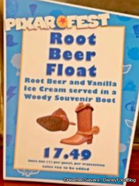 Woody's Boot -- with Root Beer Float