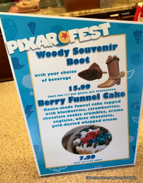 Woody Souvenir Boot and Berry Funnel Cake