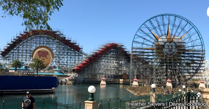 Pixar Pier in transition