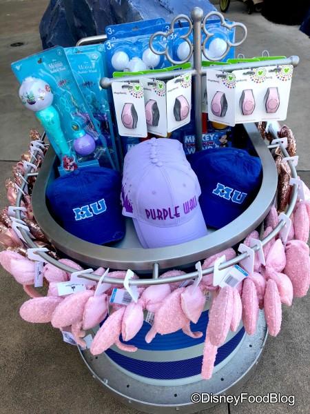 Purple Wall Area Merchandise Cart