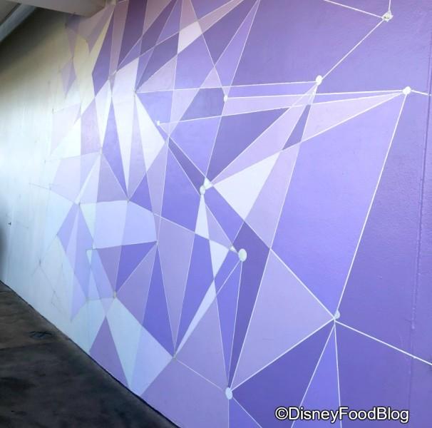 Purple Wall in Tomorrowland (post renovation)