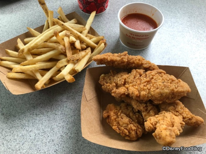 Chicken Strips with Buffalo Sauce