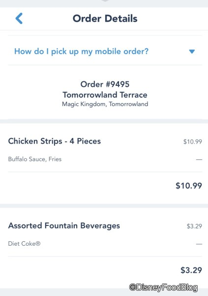Mobile Ordering at Tomorrowland Terrace