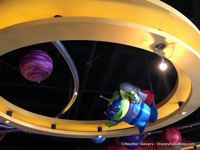 Little Green Aliens Landing at Alien Pizza Planet for Pixar Fest