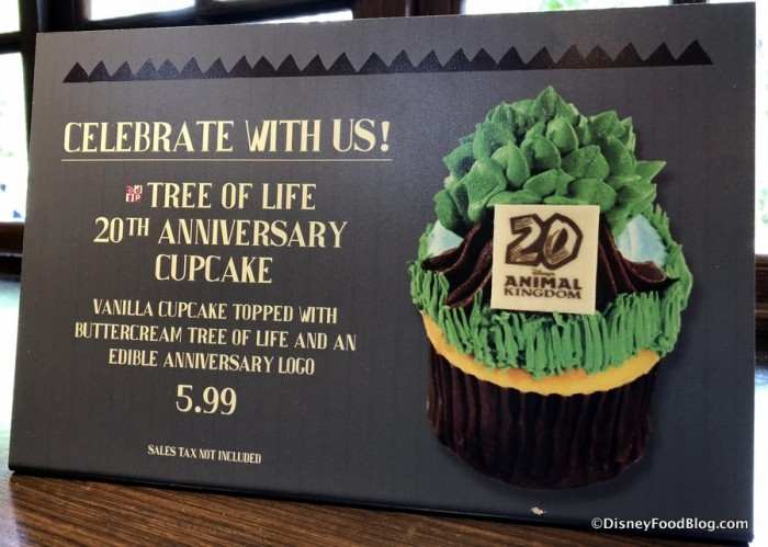 Animal Kingdom 20th Anniversary Cupcake