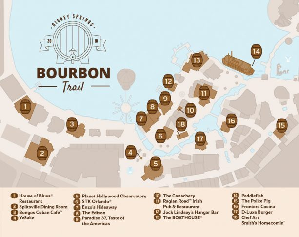 Bourbon Trail Map ©Disney