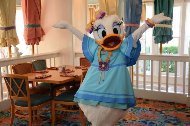 Daisy Duck at Cape May Cafe ©Disney