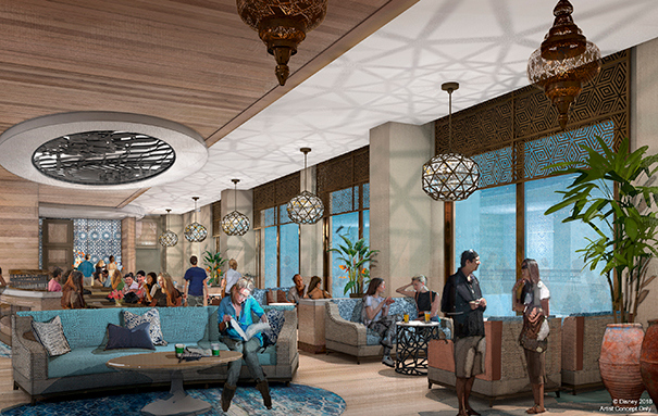 Concierge Lounge Concept Art ©Disney
