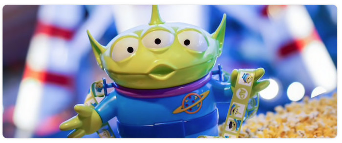 Little Green Alien Popcorn Bucket ©Disney