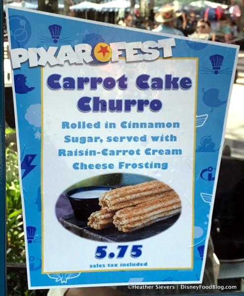 Carrot Cake Churros