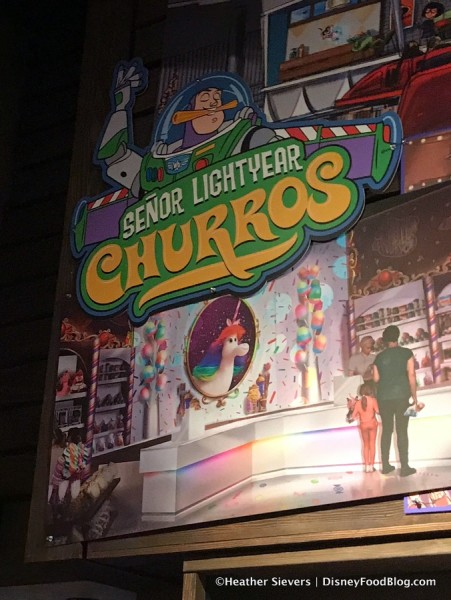 Concept Art for Bing Bong's Sweet Stuff Confectionery and Proposed Senor Lightyear Churros sign