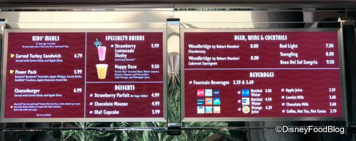 ABC Commissary New Menu Boards