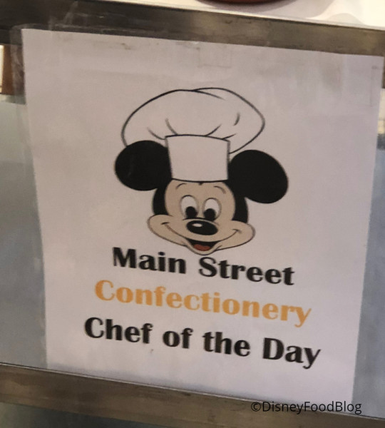 Main Street Confectionery Chef of the Day