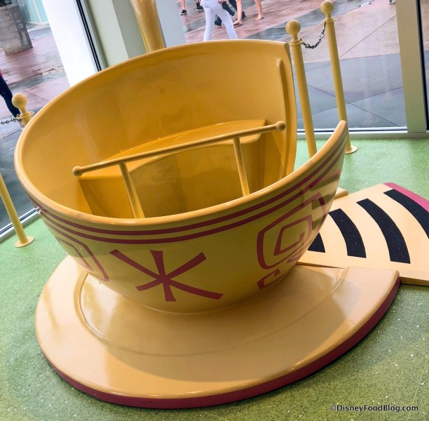 Teacup photo op at Disney Style Store